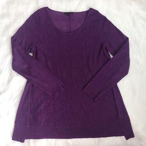 Eileen Fisher Purple Merino Wool Alpaca Knit M